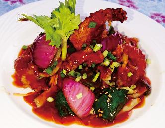 """ウダン・チリ・ソース  Udang chili sauce <i class=""""fas fa-pepper-hot chili-red""""></i><i class=""""fas fa-pepper-hot chili-red""""></i>"""